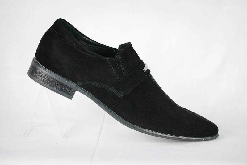 Черные замшевые туфли мужские